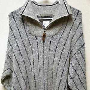NWT FIELD & STREAM 1/4 ZIP FUNNEL STRIPE SWEATER